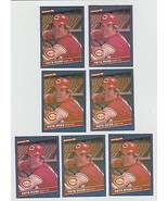 7 Card Lot 1986 DONRUSS # 62 Pete Rose Cincinatti Reds - $8.89