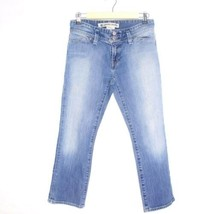 Gap Stretch Low Rise Cropped Light Wash Blue Jeans Size 1 - $44.55