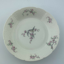 ch field haviland limoges gda france 71/2 Inch Pink Flowers Humming Bird Bowl - $6.93