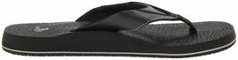 NEW Sanuk Men's Black Beer Cozy Thong Flip-Flop Beach Sandals Slippers 1174140 image 2