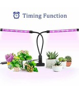 Grow Light, Ankace 40W Dual Head Timing 36 LED Dimmable Levels Plant Grow Lights - $32.66