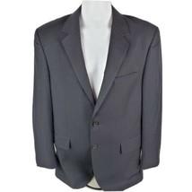 Arrow Mens Blazer Sz 40R Black 2 Button Sports Coat Striped Business Career - $28.72