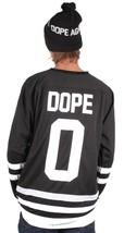 DOPE Couture Mens Basic Black & White Long Sleeve Hockey Jersey NWT image 2