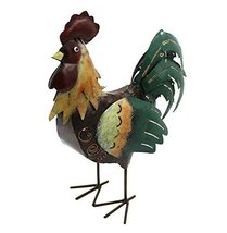 Country Rustic Metal Rooster Tea Light Holder, Chicken Decor - $26.99