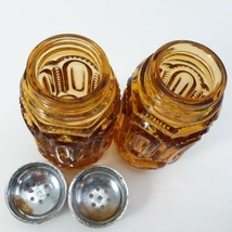 L.E. Smith Moon And Stars Amberina Salt And Pepper Shakers  image 2