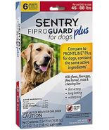 Sentry 6 Count Fiproguard Plus For Dogs Squeeze-on (45-88 pound) - $788,35 MXN