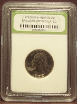 1972-D Washington Quarter INB BU #G6 - $4.79