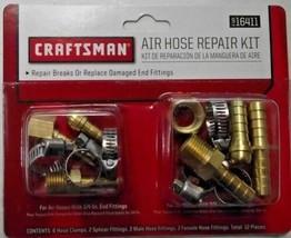 """Craftsman 16411 ACR1020-CRA Air Hose Repair Kit 1/4"""" And 3/8"""" - $4.95"""