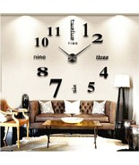 DIY Wall Clock Modern Design Home Decorative Wall Stickers 3D Frameless Clock (L - $27.96