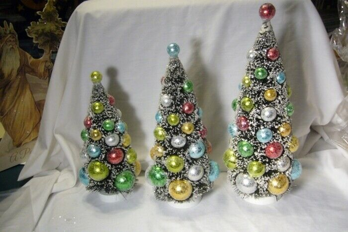 Bethany Lowe Merry & Bright Bottle Brush Trees