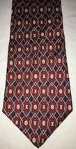 GEOFFREY BEENE Men's Red Yellow Blue Geometric 100% Silk Neck Tie Necktie  - $4.94