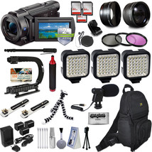 Sony FDR-AX33 4K HD Handycam Camcorder Video Camera Action Kit + 2 Yr Wa... - $1,139.63