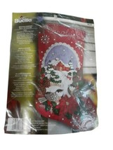 Bucilla 86326 Chickadees Felt Stocking Kit Christmas 2014 Applique Bird ... - $48.50