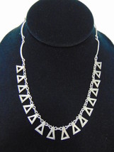 Womens Vintage Estate Sterling Silver Triangle ... - $64.99