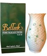 "Belleek Irish Shamrock Kylemore 6"" Vase Ireland NEW IN THE BOX  - $118.89 CAD"