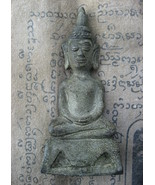 So Rare Blessed Old Phra Chai Ngang Statue Top Antique Magic Thai Buddha... - $29.99