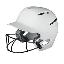 DeMarini Paradox Batting Helmet with Softball Protective Mask, White, Large/X-La