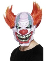 Clown Mask, Halloween Fancy Dress Accessories, One Size, Unisex #Ca - $21.96