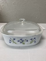 Vintage Corning Ware Blue Dusk A 2 B Casserole Dish & Lid - $13.98