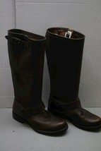 Women's Dark Brown Leather Frye Tall Knee High Western Style Boots image 2