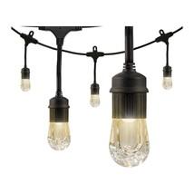 Enbrighten 36' Strand LED Acrylic Café Lights (18 bulbs) 2 Count - $139.00