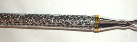 Judaica Yad Torah Bible Pointer Silver Plated w Chain Detailed Metal Work Large image 5