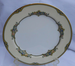 """NORITAKE ISABEY LUNCHEON PLATE S #78055 8 1/2""""  FLOWERS BLUE GOLD RARE - $12.61"""