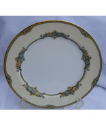 "NORITAKE ISABEY LUNCHEON PLATE S #78055 8 1/2""  FLOWERS BLUE GOLD RARE - $12.61"