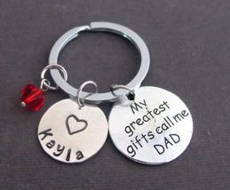 Personalized Dad Keychain,Dad Jewelry,My Greatest Gifts Call Me Dad,Gift  - $12.00