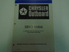 1981 Chrysler Outboard 6 7.5 180 Sailor Motors Service Repair Shop Manua... - $25.69