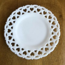 """Westmoreland White Milk Glass Plate 8 1/2""""FORGET Me Not Pattern - $11.88"""