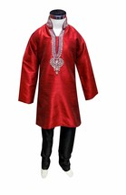 Boys Indian sherwani with Black churidar for Bollywood theme party wear 838 - $35.00