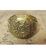 Rare Blessed Gold Yin-Yang Ring Panan Cherng Temple Bucha Charm Buddha A... - $14.99