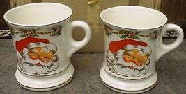 Made in Japan Christmas Santa Claus Mugs Cups Unused Original Box - $12.99