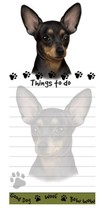 CHIHUAHUA BLACK DOG DIECUT LIST PAD NOTES NOTEPAD Magnetic Magnet Refrig... - $7.99