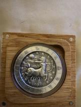 Zodiac Horoscope Sagittarius The Archer 1oz Silver Capsuled Antiqued Rou... - $69.29