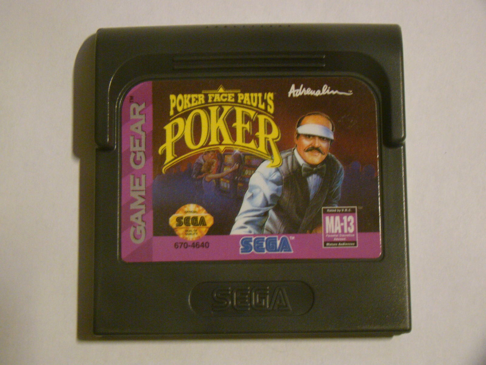 SEGA GAME GEAR - POKER FACE PAUL'S POKER (Game Only)
