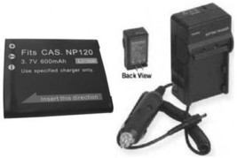 Battery + Charger for Casio EX-S200 EX-S200BK EX-S200BE - $26.94