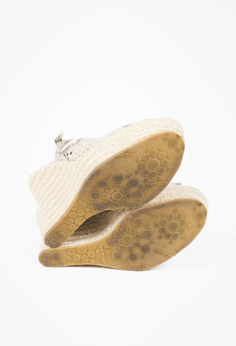 Jimmy Choo Polar Snakeskin Espadrille Sandals SZ 40 image 4