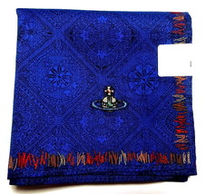 Vivienne Westwood - Handkerchief scarf bandana Cotton Men Blue ORB Auth New - $25.74