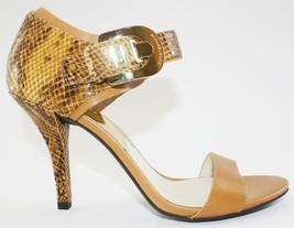 Women Michael Kors Bianca Quarter Strap Sandal Embossed Leather Marigold Us 8.5 - $79.99