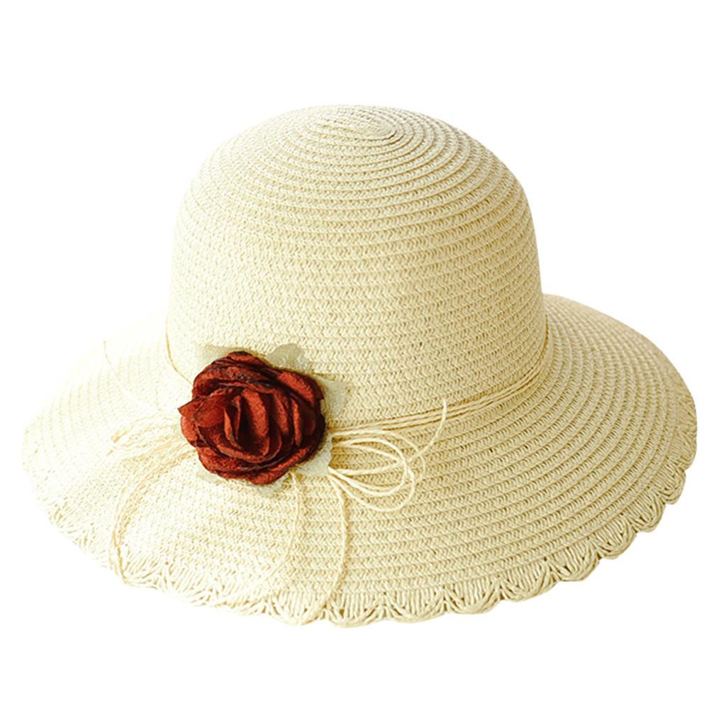 SAGACE hats Women Summer beach sun Hat Wide Brim Cap Wide Brim Straw Floppy Derb image 3