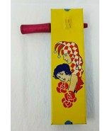 Kirchhof Vintage Noisemaker Tin Litho Wood Handle Toy Life of the Party ... - $14.84