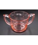 Antique Vintage Pink Depression Glass Sugar Dish - $24.74