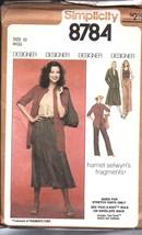 8784 Simplicity Vintage Couture Motif Femmes Chemise Pantalons Jupe Déba... - $4.89