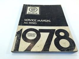 1978 Buick Service Manual All Series Advance Edition OEM Original - $19.99