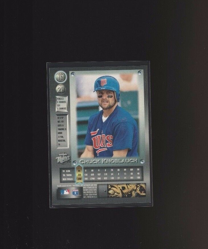 1996 Fleer Metal Platinum Edition #76 Chuck Knoblauch Minnesota Twins