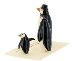 Hagen Renaker Miniature Bird Penguin Family Papa Mama Baby Ceramic Figurines image 4