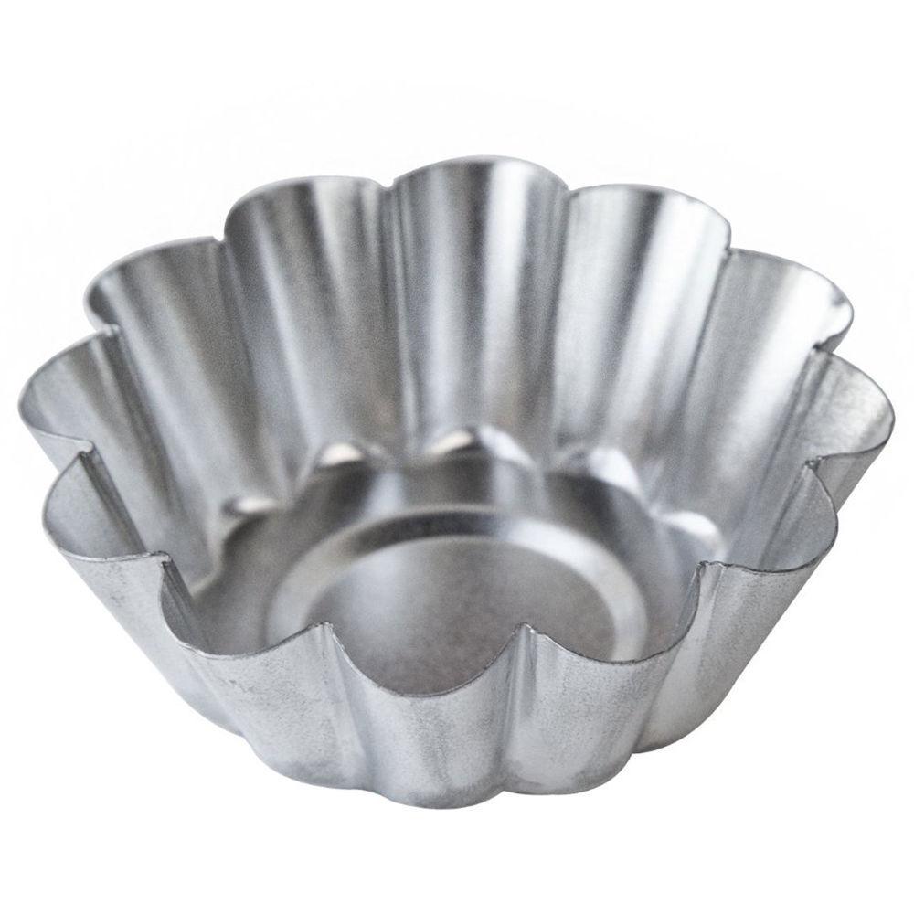 "Fox Run 3/4"" Deep Tart Tins, 2-1/4"" Wide (Set of 4) Mini Cupcake Mold Steel 4570"