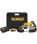 DEWALT 20-Volt MAX XR Lithium-Ion Cordless Brushless Deep Cut Band Saw Kit with  - $450.87